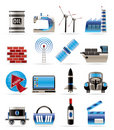 Business and industry icons Royalty Free Stock Images