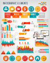 Business info graphics flat template set