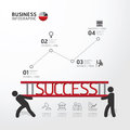 Business infographic carrying ladder concept vector illustration Stock Image