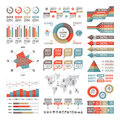 Business infographic concept - vector set of infographic elements in flat design