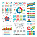 Business infographic concept - vector set of infographic elements in flat design style for presentation, booklet, website etc. Royalty Free Stock Photo