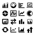 Business infographic icons set vector graphics Stock Images