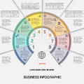 Business infographic for success project and other your variant vector illustration template with text areas on eight positions Stock Images