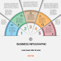 Business infographic for success project and other your variant vector illustration template with text areas on five positions Royalty Free Stock Image