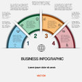 Business infographic for success project and other your variant vector illustration template with text areas on positions Royalty Free Stock Image