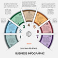 Business infographic for success project and other your variant vector illustration template with text areas on positions Royalty Free Stock Photo