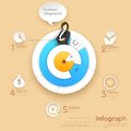 Business infographics chart illustration of options for presentation and promotion Royalty Free Stock Image