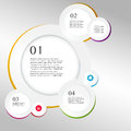 Business infographics circle origami style vector illustration can be used for workflow layout banner diagram number options step Royalty Free Stock Images
