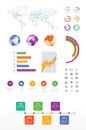 Business infographics colorful set of Stock Photography