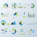 Business infographics design elements vector illustration of set of d with long shadow Royalty Free Stock Photography