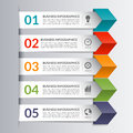 Business infographics design paper arrow template