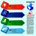 Business infographics. Four Options steps. Vector infographic element