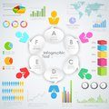 Business infographics illustration of with human icon with chat bubble Stock Photo