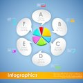 Business infographics illustration of pie chart with different label Stock Photos