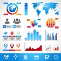 Business infographics layout design elements for charts and graphs vector illustration Stock Photography