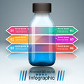 Business Infographics. Medicine bottles, Recipe icon.