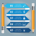 Business Infographics origami style Vector illustration. Pencil