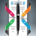 Business Infographics. Pen icon.