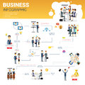 Business Infographics Set With Copy Space For Presentation Career Success Concept