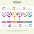 Business Infographics strategy timeline design template illustra