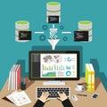Business intelligence analytics dashboard. Data mining concept Royalty Free Stock Photo