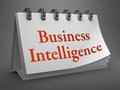 Business Intelligence Concept on Desktop Calendar. Royalty Free Stock Photography