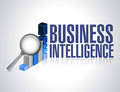 Business intelligence concept illustration design over a white background Stock Images