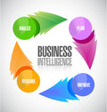 Business intelligence diagram illustration design over white Stock Photo