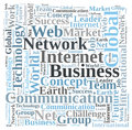Business internet Photo libre de droits