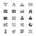 Business and investment flat icons simple clear sharp easy to resize Royalty Free Stock Photography