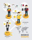 Business investment funds board game flat icons concept line infographic startup step to successful vector illustration Stock Image