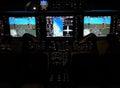 Business jet cockpit of a modern Stock Images