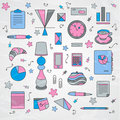 Business-lady, accessory pattern Stock Photo