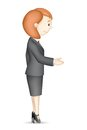 Business Lady doing Handshake Royalty Free Stock Photo