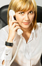 Business Lady on Phone Royalty Free Stock Image