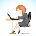 Business Lady working on Laptop Royalty Free Stock Photo