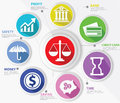 Business law and finance concept abstract colorful version Stock Photography