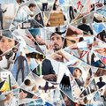 Business life collage Royalty Free Stock Photo