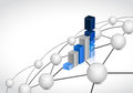 Business link sphere network connection concept illustration design graphic background Stock Image