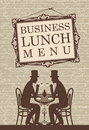 Business lunch menu for talking with two gentlemen Royalty Free Stock Photos