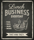 Business lunch poster on blackboard Stock Photography