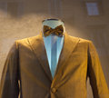 Business male suits on shop mannequins high fashion retail display Royalty Free Stock Image