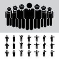 Business man architect engineer worker icon set illustration eps Royalty Free Stock Photography