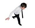 Business man balance walk Royalty Free Stock Photo