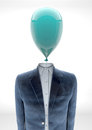 Business man with balloon head Royalty Free Stock Photo