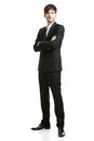 Business man with black suit Stock Images
