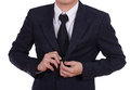 Business man button his jacket Royalty Free Stock Photo