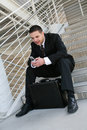 Business Man with Cell Phone Royalty Free Stock Photo