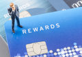 Business man on the credit card,online shoping concept Royalty Free Stock Photo