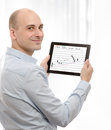 Business man with digital tablet Stock Photo
